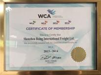 WCA会员证书(2013-2014)